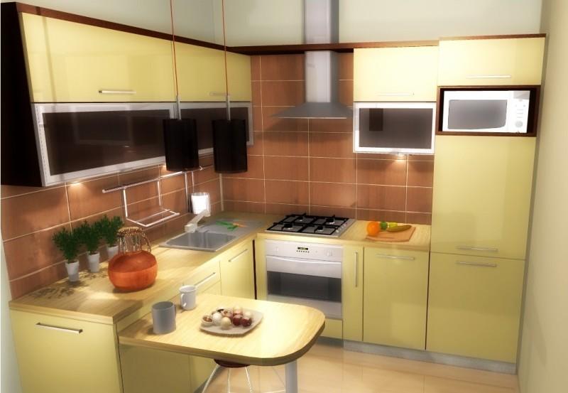 Mała kuchnia  Meble Barnowski -> Kuchnia Na Poddaszu W Bloku